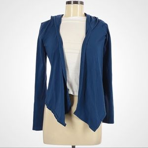 Express Navy Open Front Hooded Cardigan
